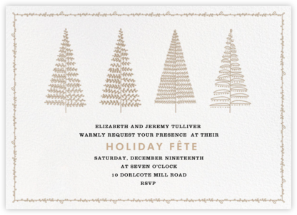Tree Lines - Crate & Barrel - Invitations