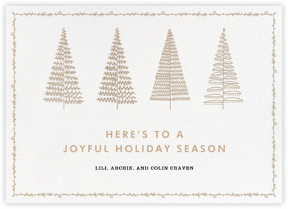 Tree Lines - Crate & Barrel - Affordable Christmas Cards