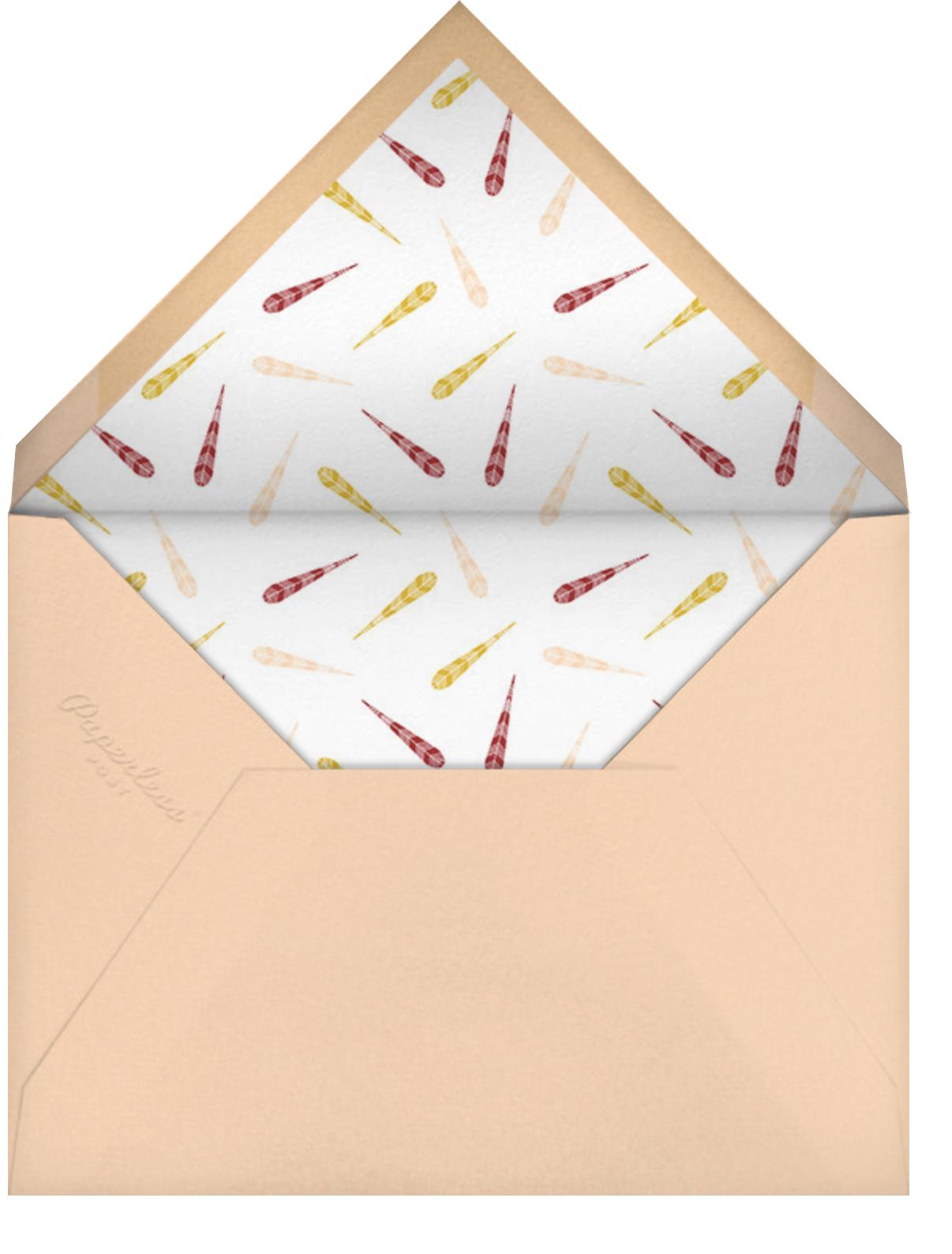Turkey Feathers - Crate & Barrel - Thanksgiving - envelope back