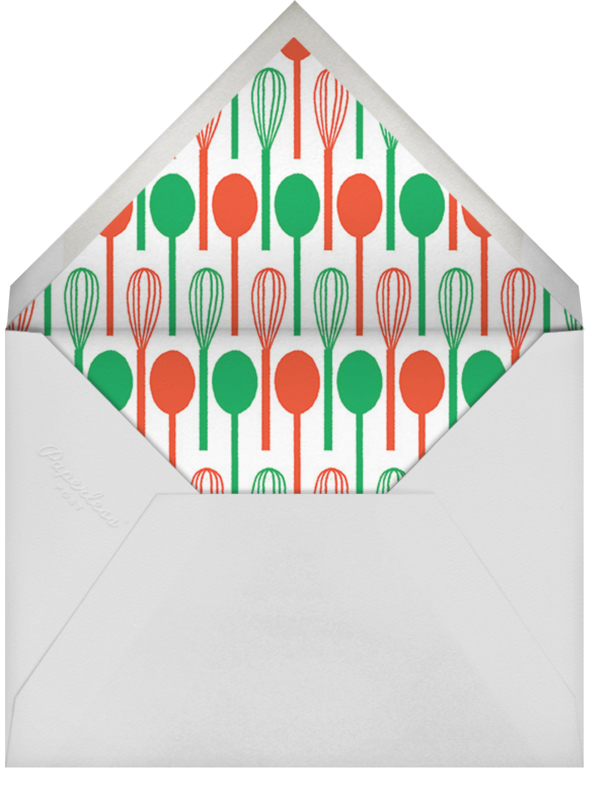 Apron Strings - Cream - Paperless Post - Taste Buds Kitchen - Adults - envelope back