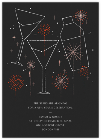 Cocktail Constellation - Paperless Post - New Year's Eve Invitations