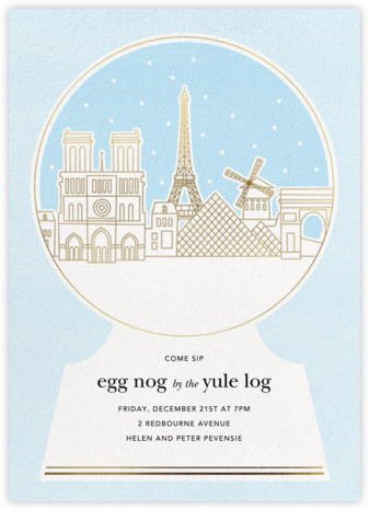Paris Skyline Snowglobe - Paperless Post -