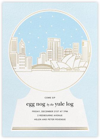 Sydney Skyline Snowglobe - Paperless Post - Holiday invitations
