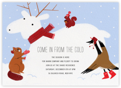 Moose Capades - Paperless Post - Winter Party Invitations