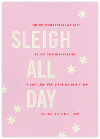Sleigh All Day - Carnation - Paperless Post - Holiday invitations