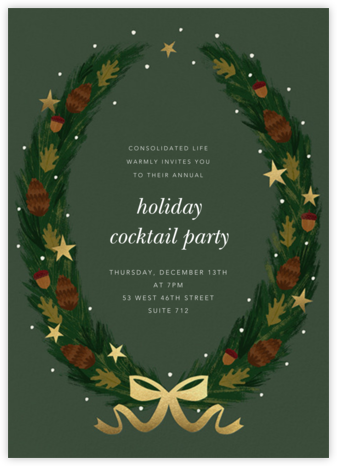 Starry Wreath - Paperless Post - Company holiday party