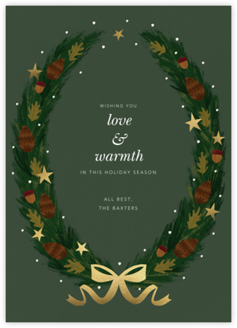Starry Wreath - Paperless Post - Holiday Cards