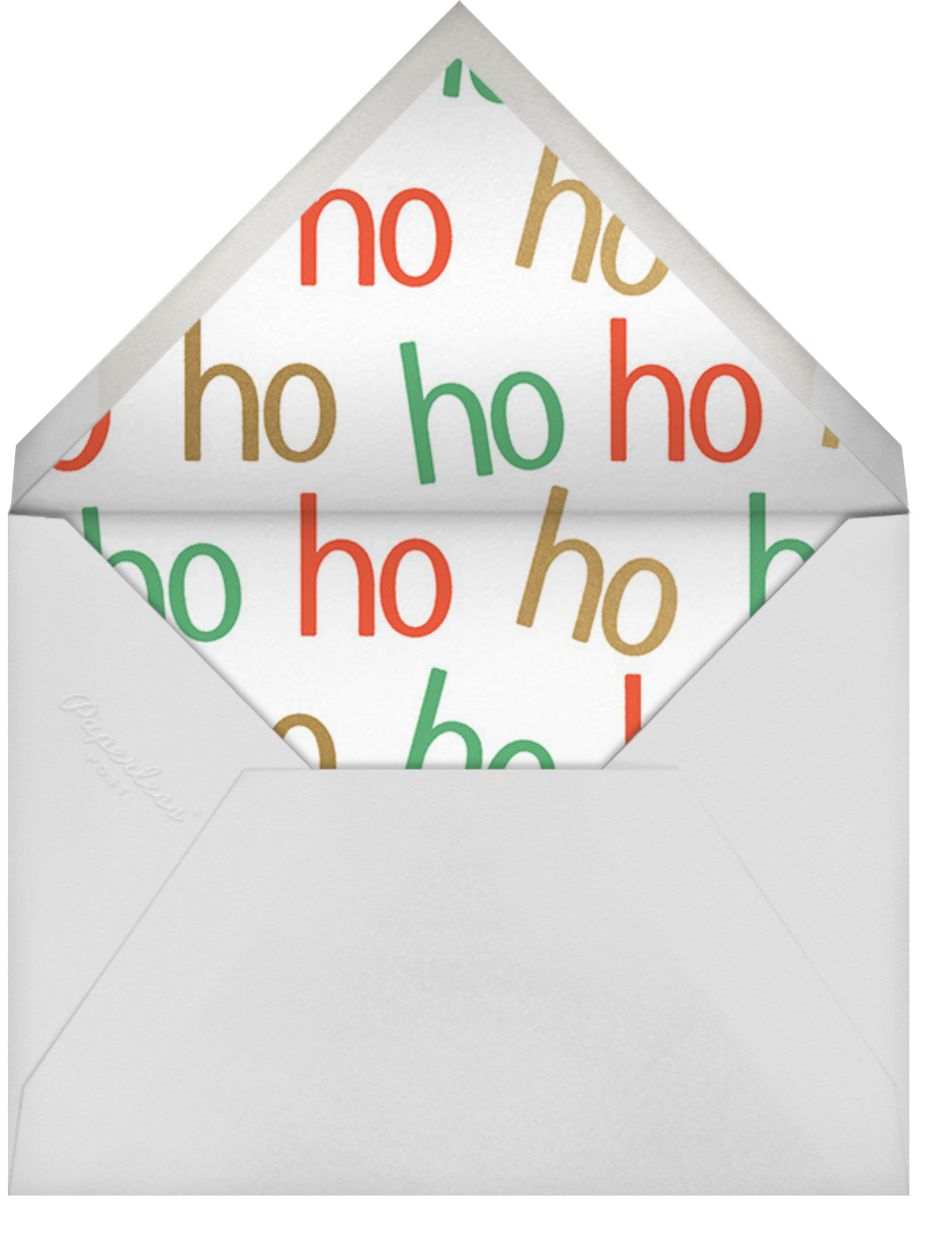 Top of the List - Fair - Paperless Post - Christmas party - envelope back