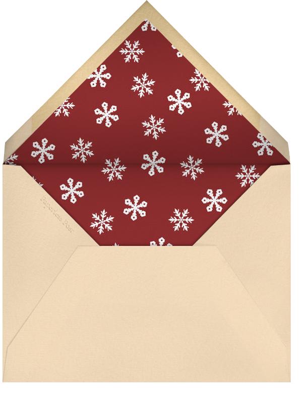 Central Park Skating - Square - John Derian - Business holiday cards - envelope back