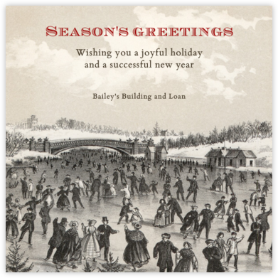 Central Park Skating - Square - John Derian - Company holiday cards