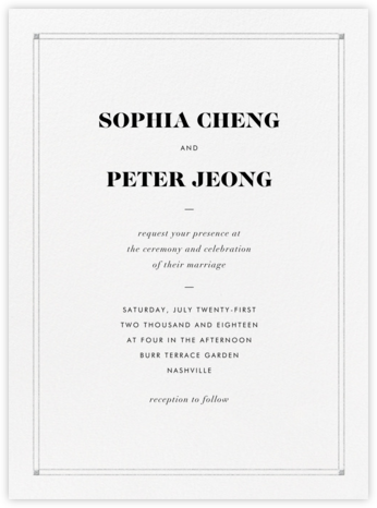 Caslon - Platinum - Vera Wang - Wedding Invitations