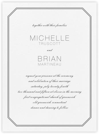 Cornerplate - Black - Vera Wang - Wedding Invitations