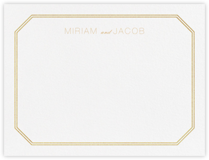 Cornerplate (Stationery) - Gold - Vera Wang -