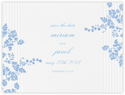 Floral Pinstripe (Save the Date) - Newport Blue | null
