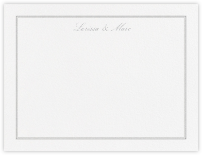 Matte (Stationery) - Platinum - Vera Wang - Personalized Stationery