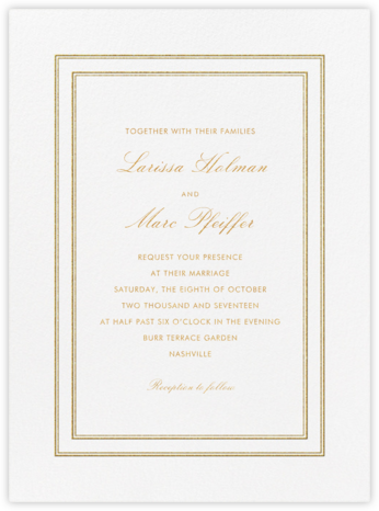 Matte - Gold - Vera Wang - Wedding Invitations