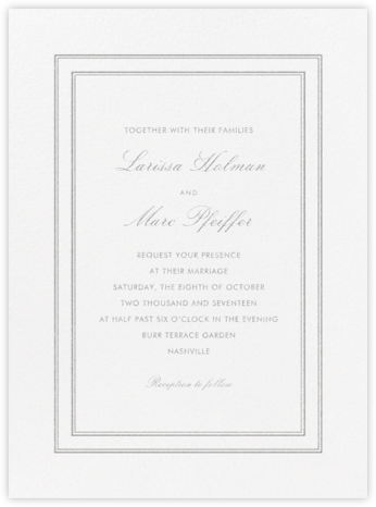 Matte - Platinum - Vera Wang - Wedding Invitations