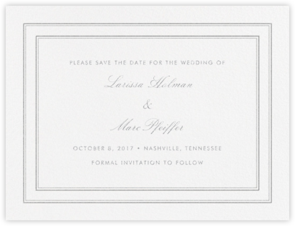 Matte (Save the Date) - Platinum - Vera Wang - Save the dates