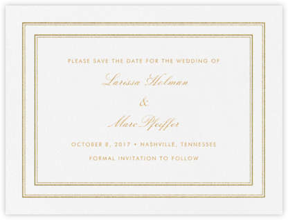 Matte (Save the Date) - Gold - Vera Wang - Save the dates