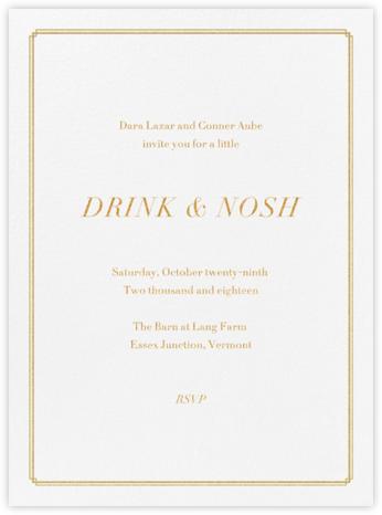 Notch - Gold - Vera Wang - General Entertaining Invitations