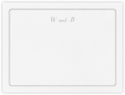 Notch (Stationery) - Platinum - Vera Wang - Personalized Stationery