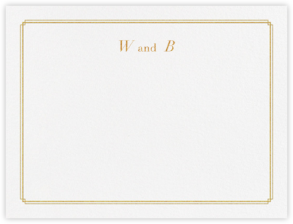 Notch (Stationery) - Gold - Vera Wang - Personalized Stationery