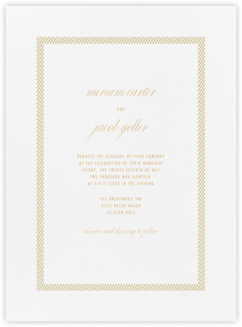 Singer - Gold - Vera Wang - Wedding Invitations