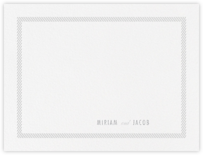 Singer (Stationery) - Platinum - Vera Wang - Personalized Stationery
