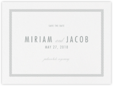 Singer (Save the Date) - Pewter Gray