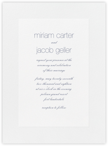 Stempel - Navy - Vera Wang - Classic wedding invitations