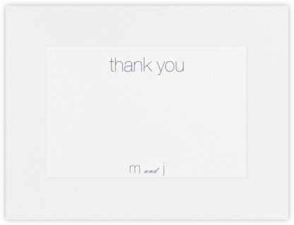 Stempel (Stationery) - Navy - Vera Wang - Wedding thank you cards