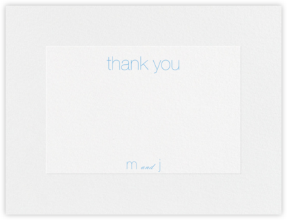 Stempel (Stationery) - Newport Blue - Vera Wang - Wedding thank you notes