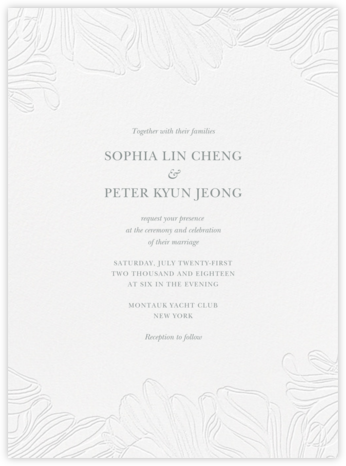 Ruffle - Pewter Gray - Vera Wang - Wedding Invitations