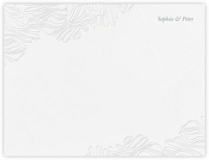 Ruffle (Stationery) - Pewter Gray - Vera Wang -