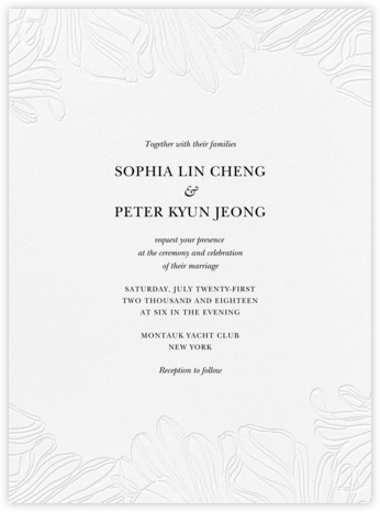 Ruffle - Black - Vera Wang - Wedding Invitations