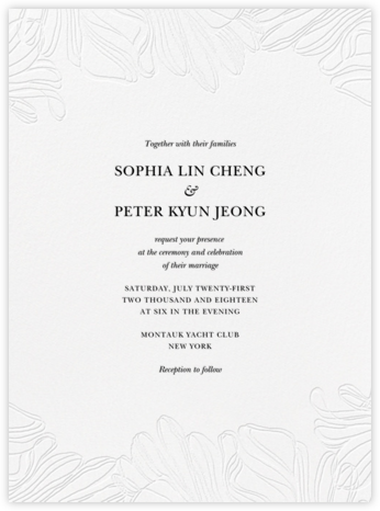 Ruffle - Black - Vera Wang - Vera Wang Invitations