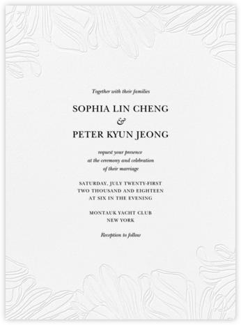 Ruffle - Black - Vera Wang - Vera Wang invitations and stationery
