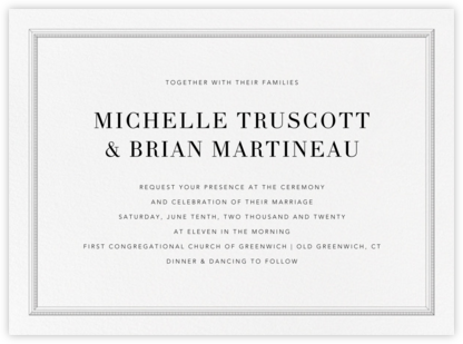 Whistler - Black - Vera Wang - Classic wedding invitations