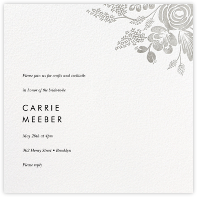 Heather and Lace (Square) - Silver - Rifle Paper Co. -