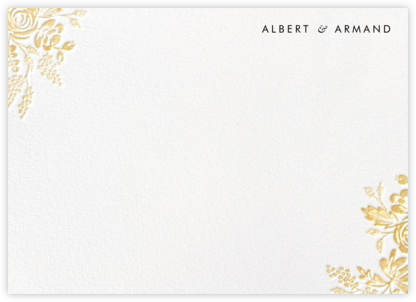Heather and Lace (Stationery) - White/Gold | horizontal
