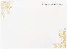 Heather and Lace (Stationery) - White/Gold