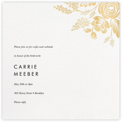 Heather and Lace (Square) - Gold - Rifle Paper Co. -