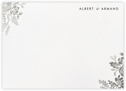 Heather and Lace (Stationery) - Silver | null