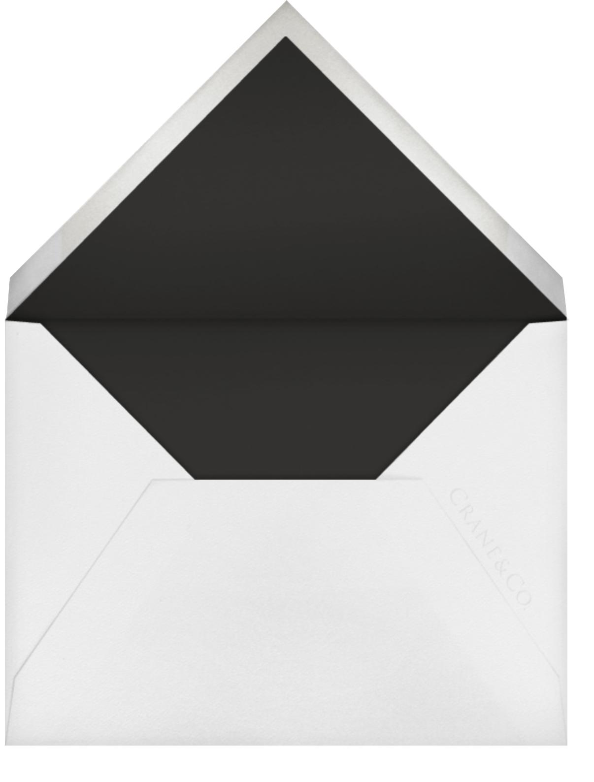 Antique Lace (Thank You) - Black - Oscar de la Renta - Personalized stationery - envelope back