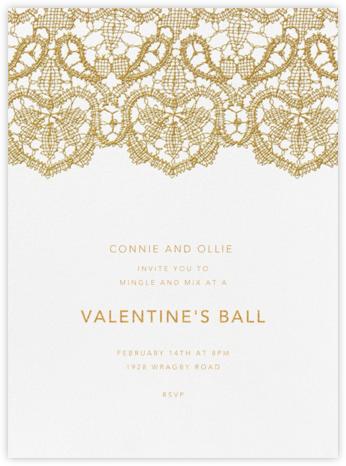 Antique Lace - Medium Gold - Oscar de la Renta - Valentine's Day invitations