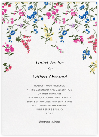 English Garden  - Oscar de la Renta - Invitations