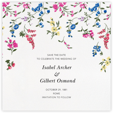 English Garden (Save the Date) - Oscar de la Renta - Oscar de la Renta Cards