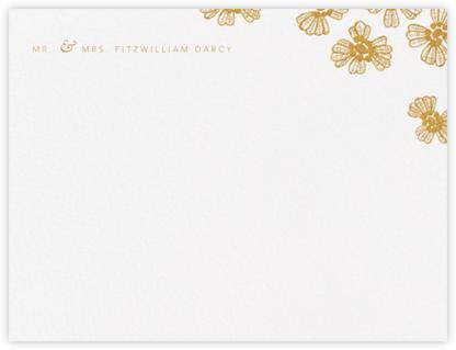 Petals on Lace (Thank You) - Medium Gold - Oscar de la Renta -