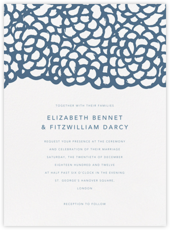 Gardenia I - French Blue - Oscar de la Renta - Wedding Invitations