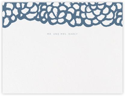 Gardenia I (Stationery) - French Blue - Oscar de la Renta -